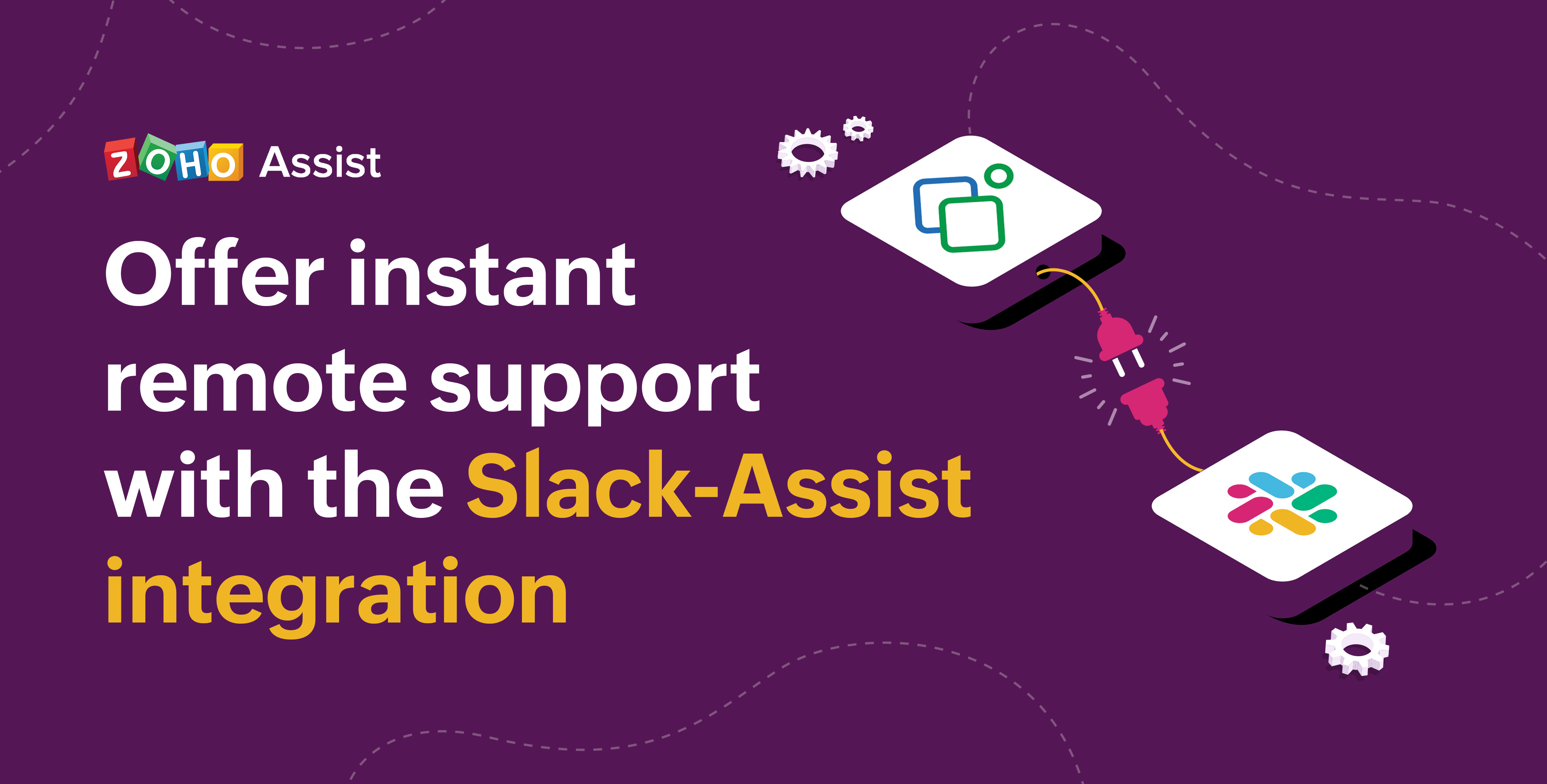 Gain control of a remote PC, Mac, or mobile device to provide remote support from Slack