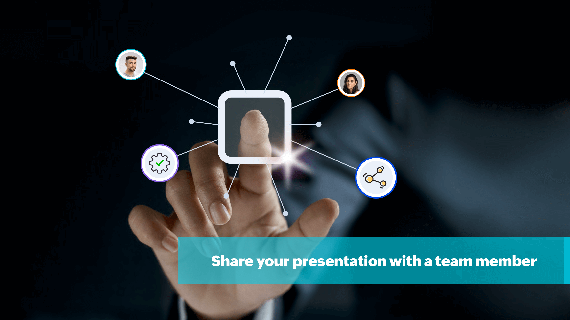 Share access to your presentation with a team member