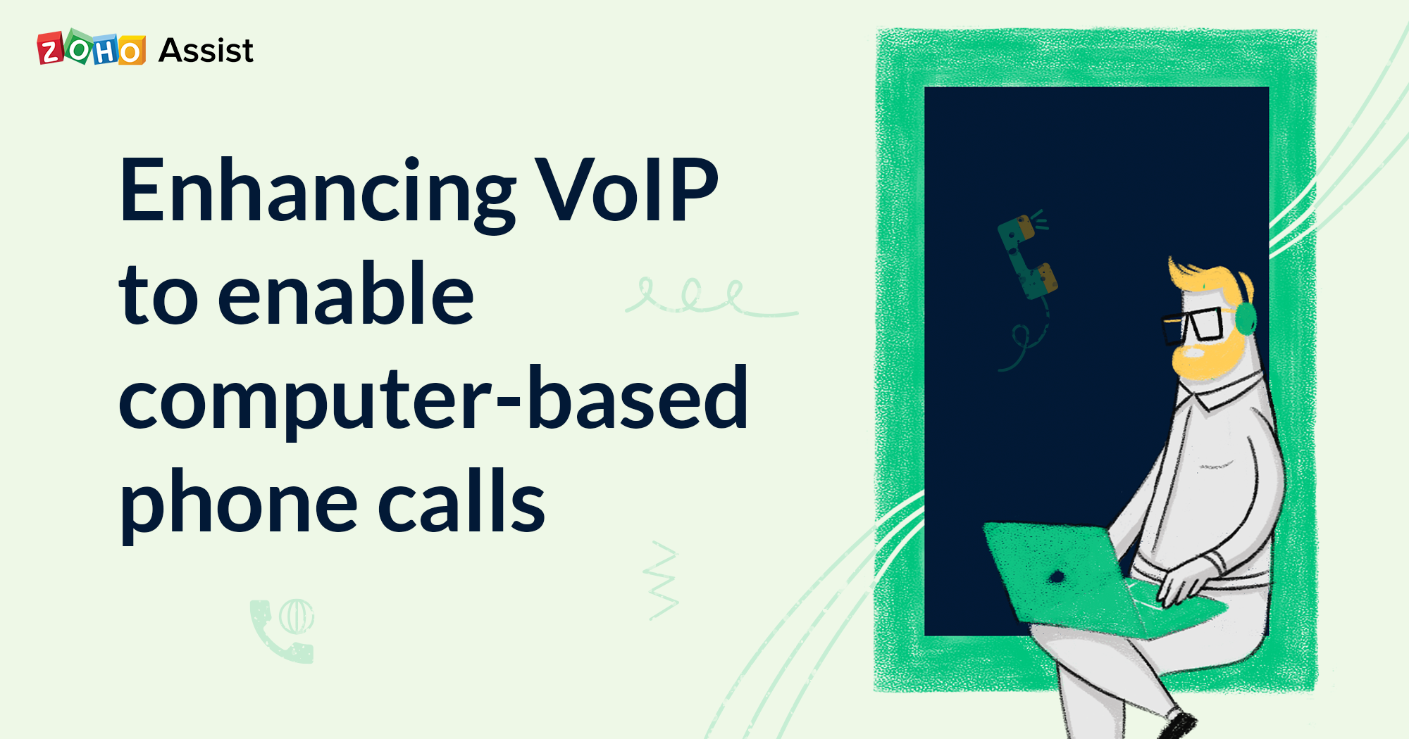 High Quality VoIP-based phone calls to enable constant communication