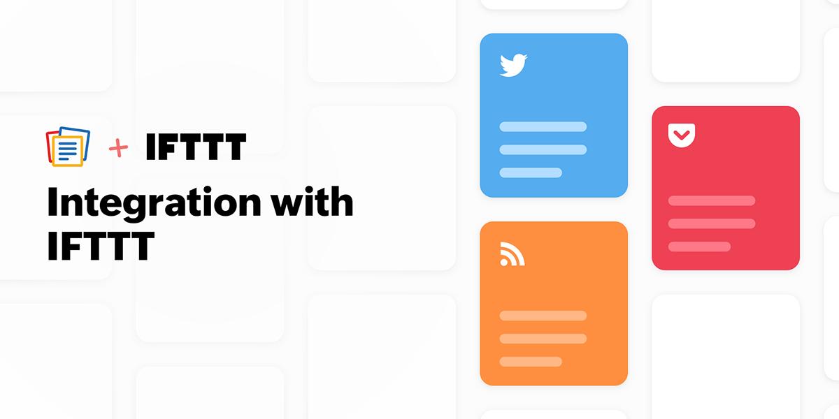 New Notebook update: Integration with IFTTT