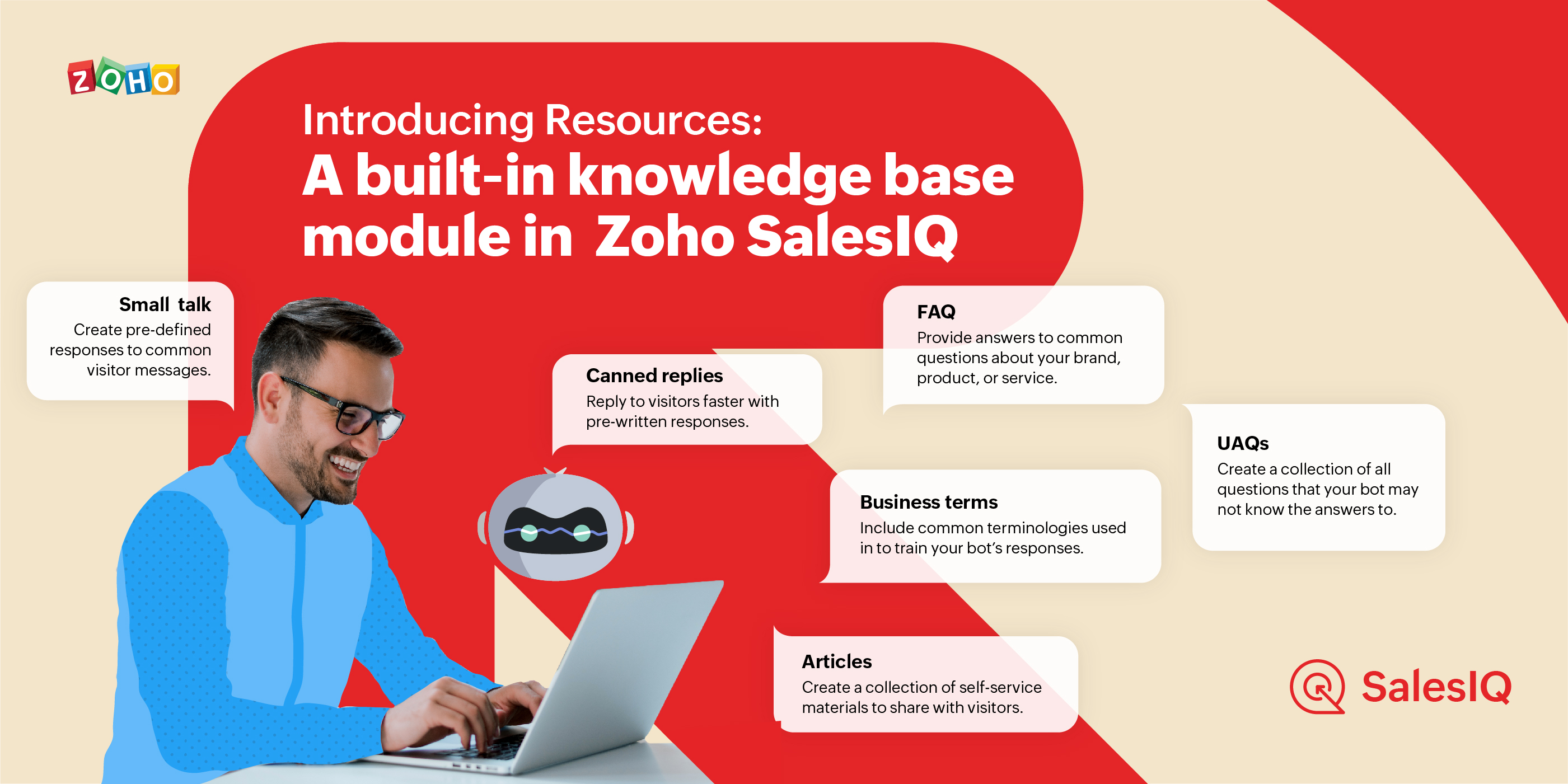 Introducing Resources: your built-in knowledge base module in SalesIQ