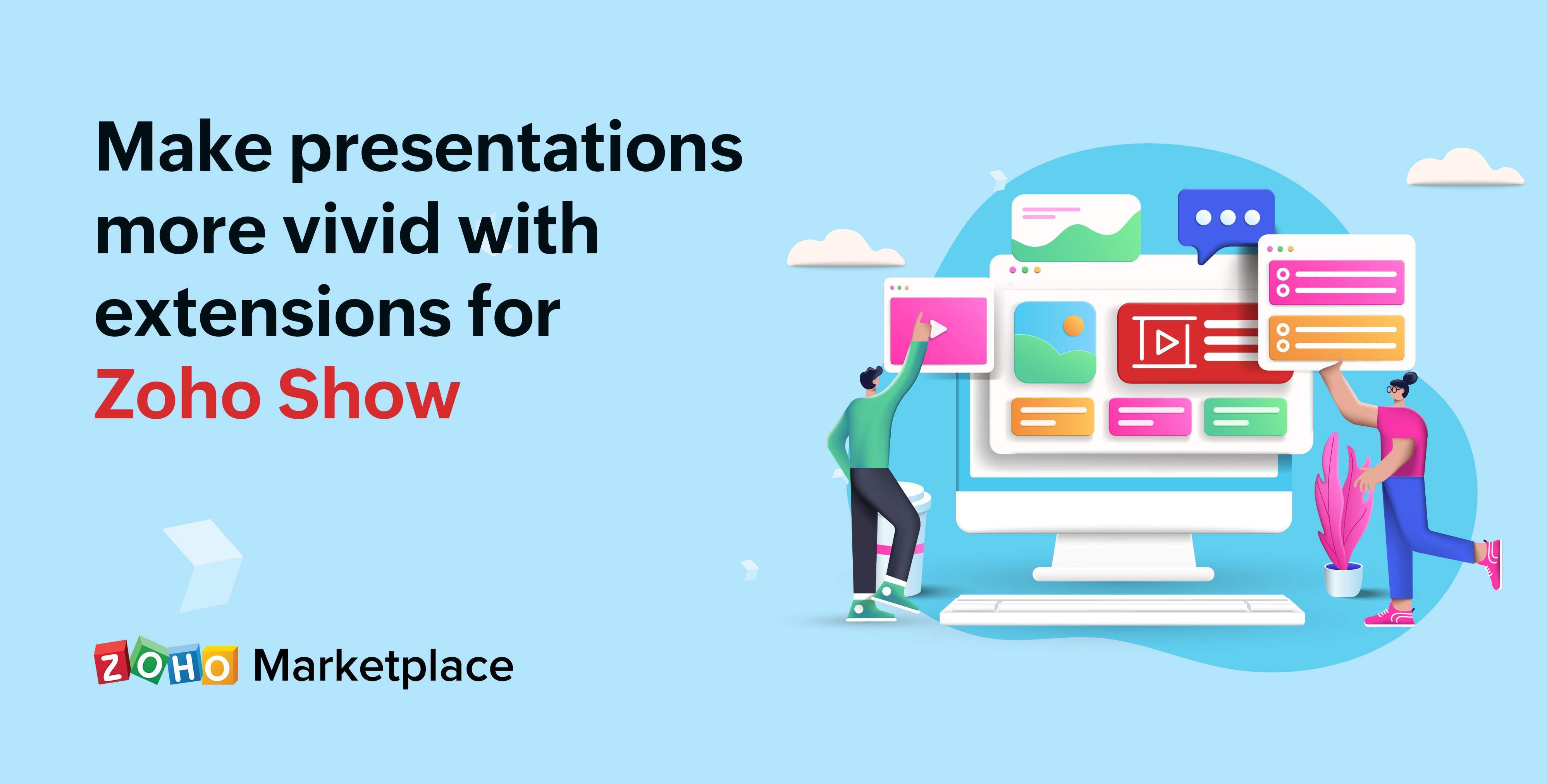 Make presentations more vivid with extensions for Zoho Show