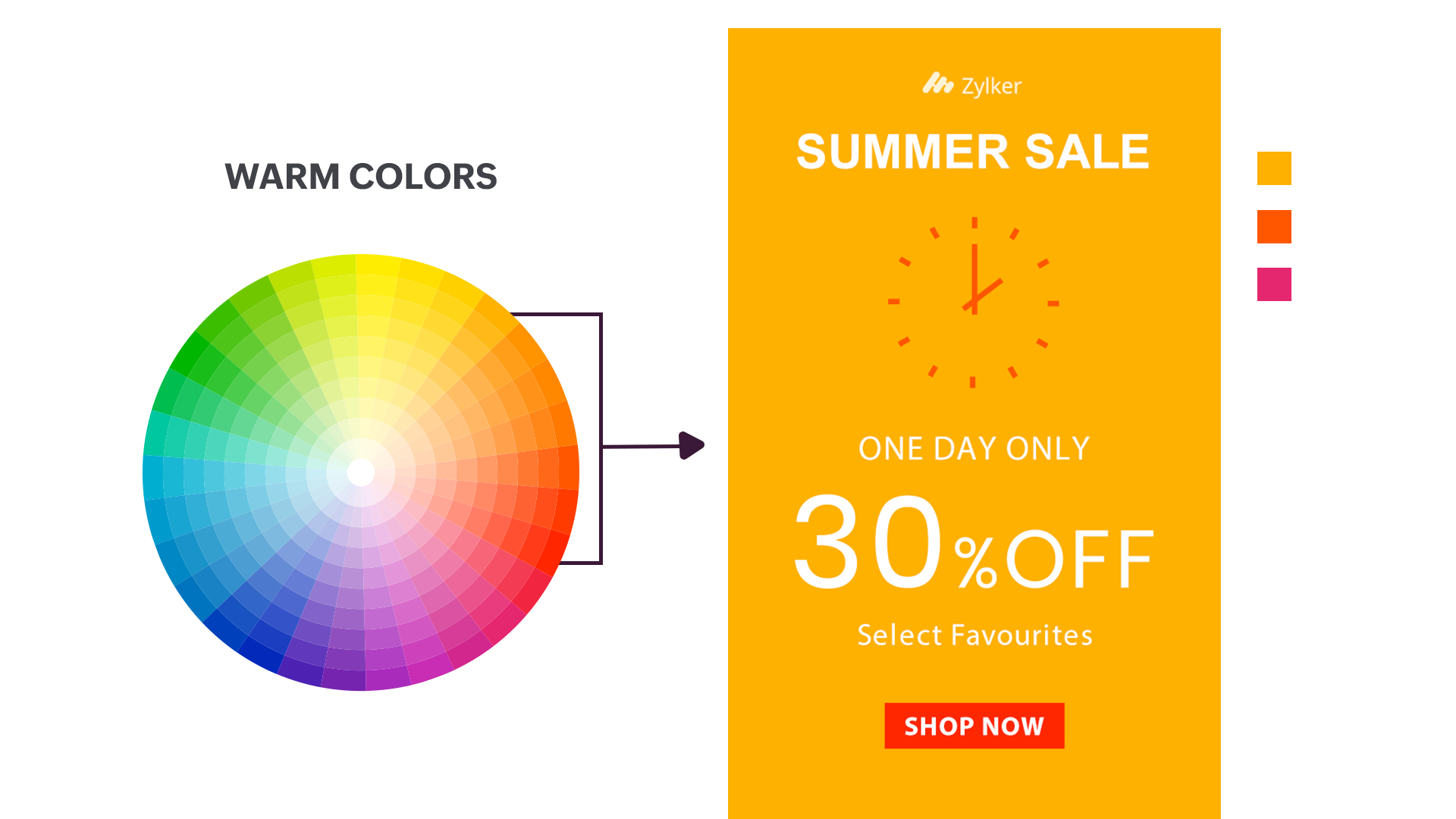 Image for warm color combination