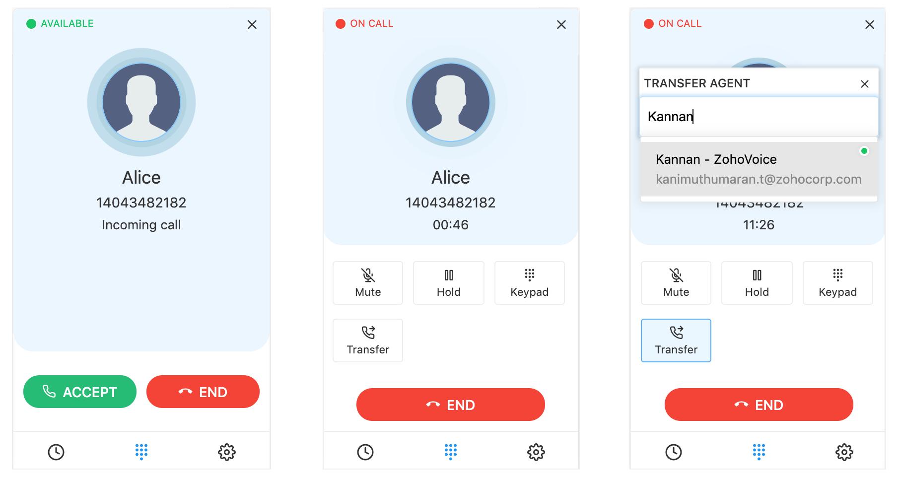 تحويل المكالمات إلى الموظف المناسب في زوهو فويس Zoho Voice