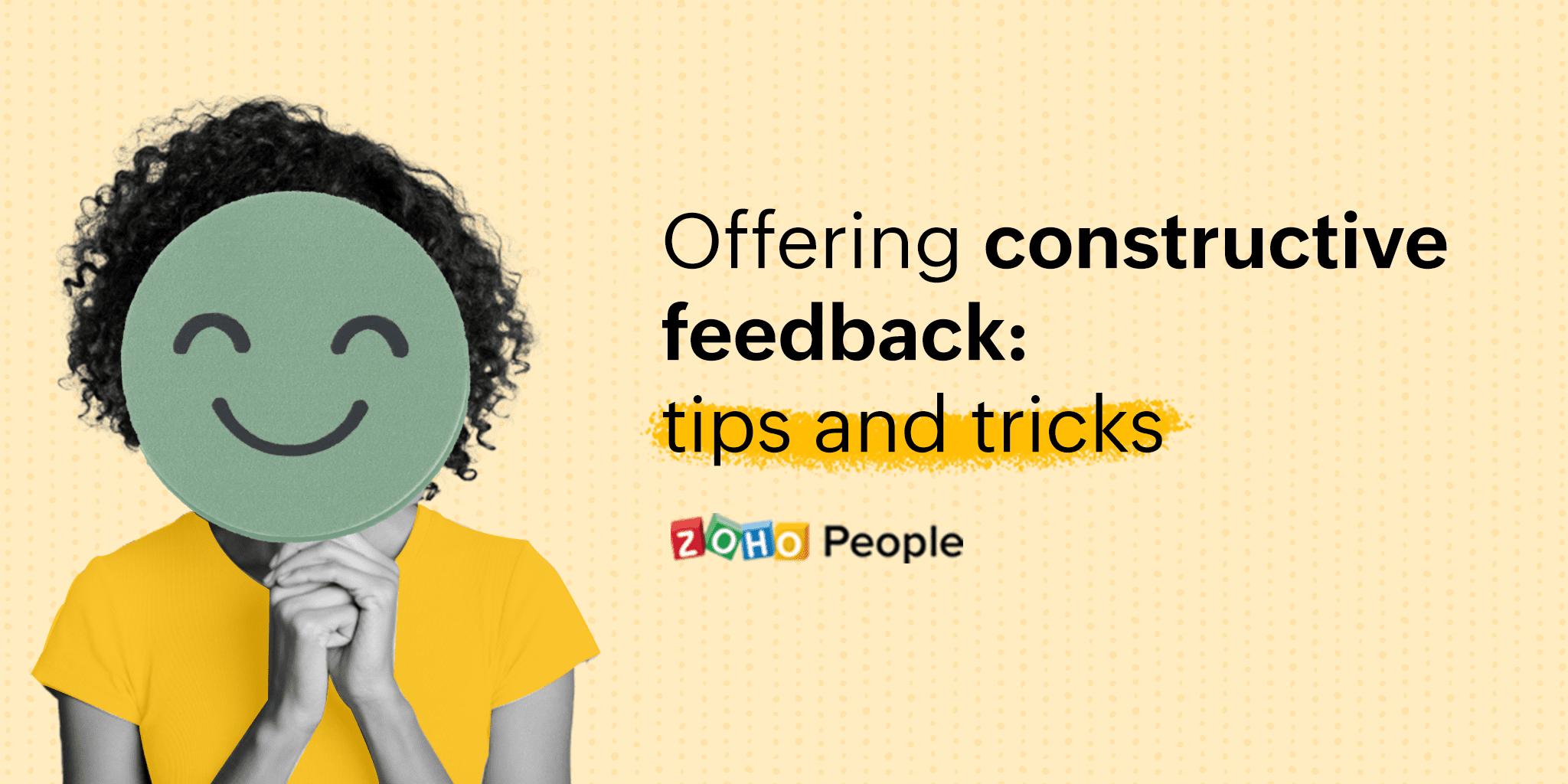 Tips to provide Constructive Feedback