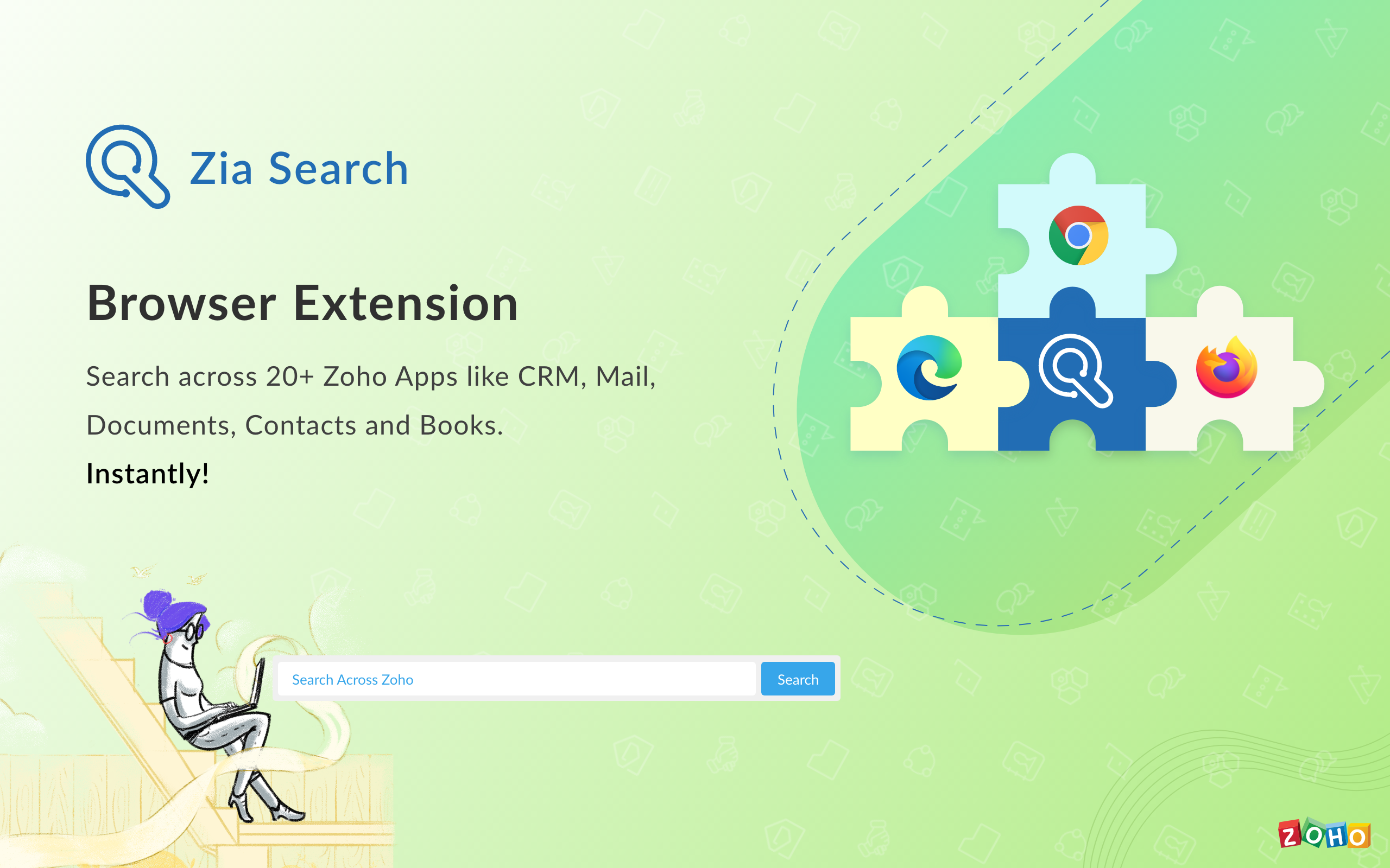 Zia Search – Browser Extension for Google Chrome, Microsoft Edge and Firefox