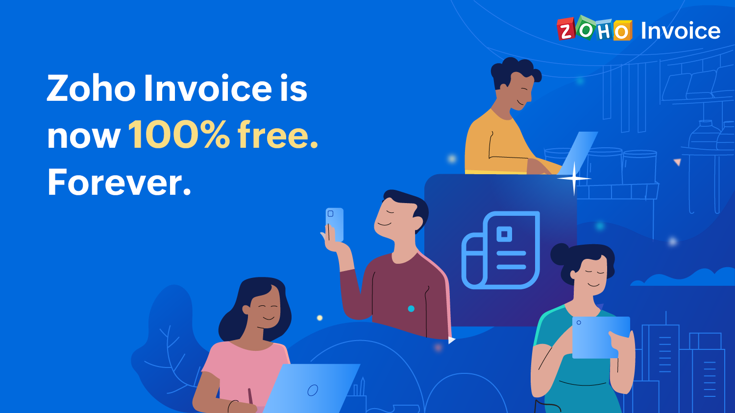 Leveling the playing field: Zoho Invoice is now free for SMBs everywhere