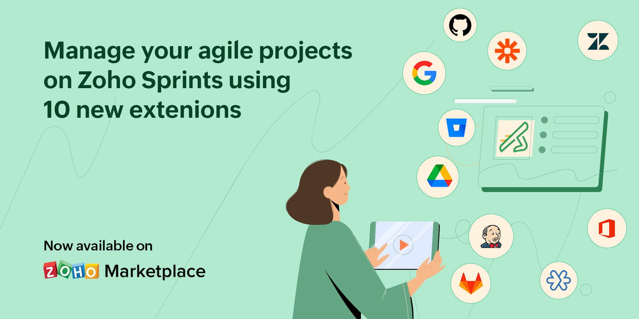 Introducing Google Drive, Zoho Meeting, Zendesk and 7 new extensions for Zoho Sprints