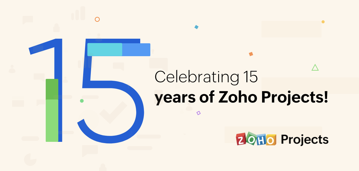 Celebrating 15 years of Zoho Projects!