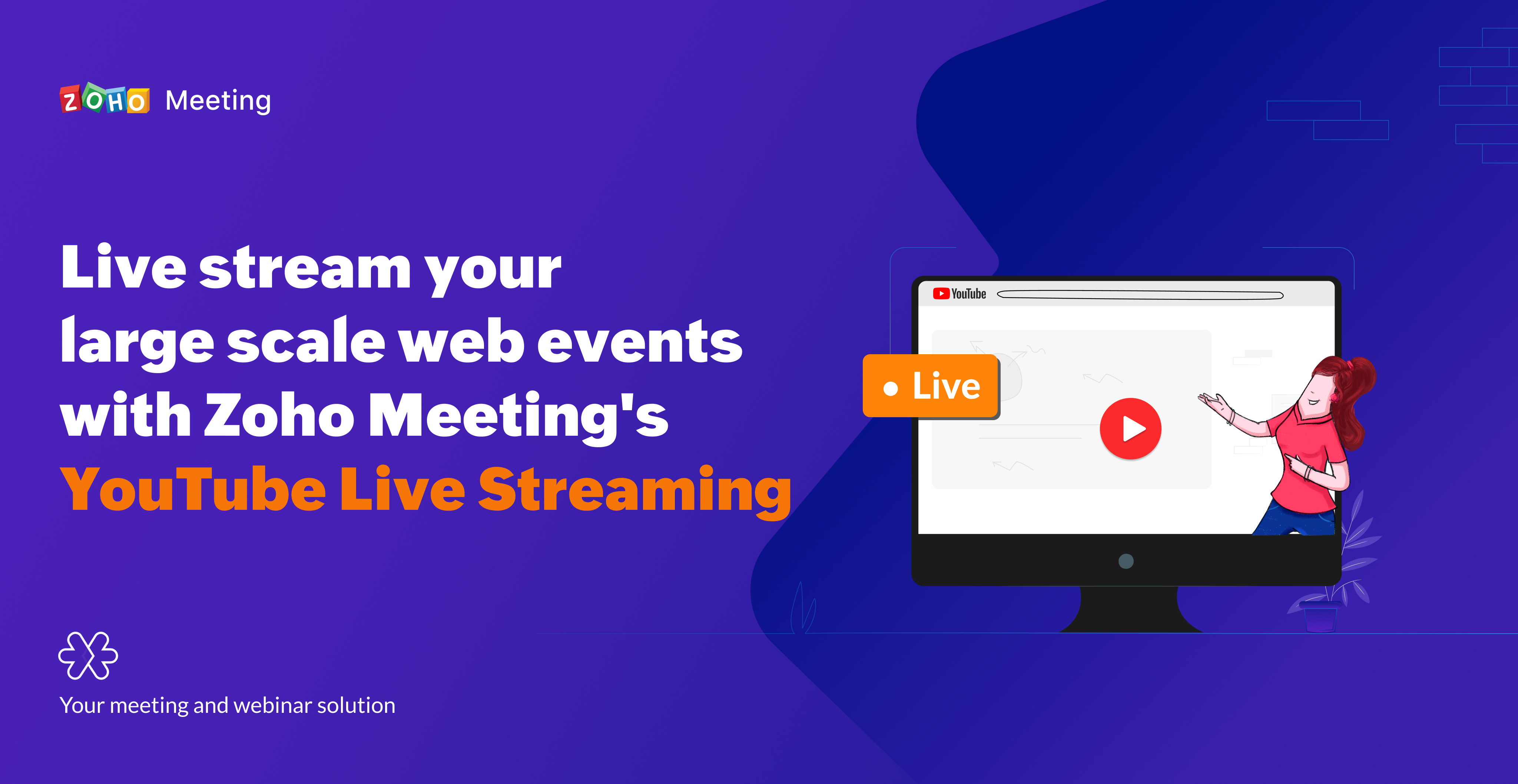 Expand your global outreach with Zoho Meeting's all-new YouTube Live Streaming