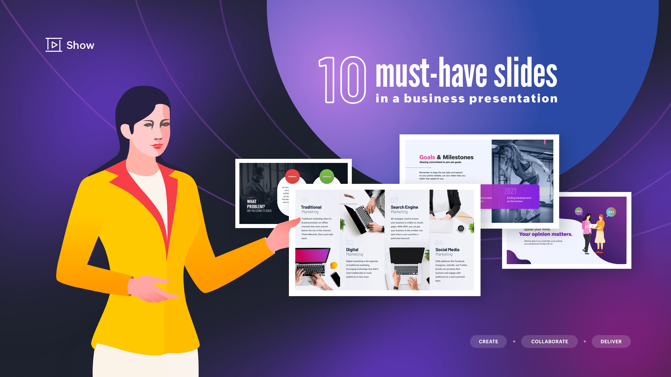 10 must-have slides in a business presentation
