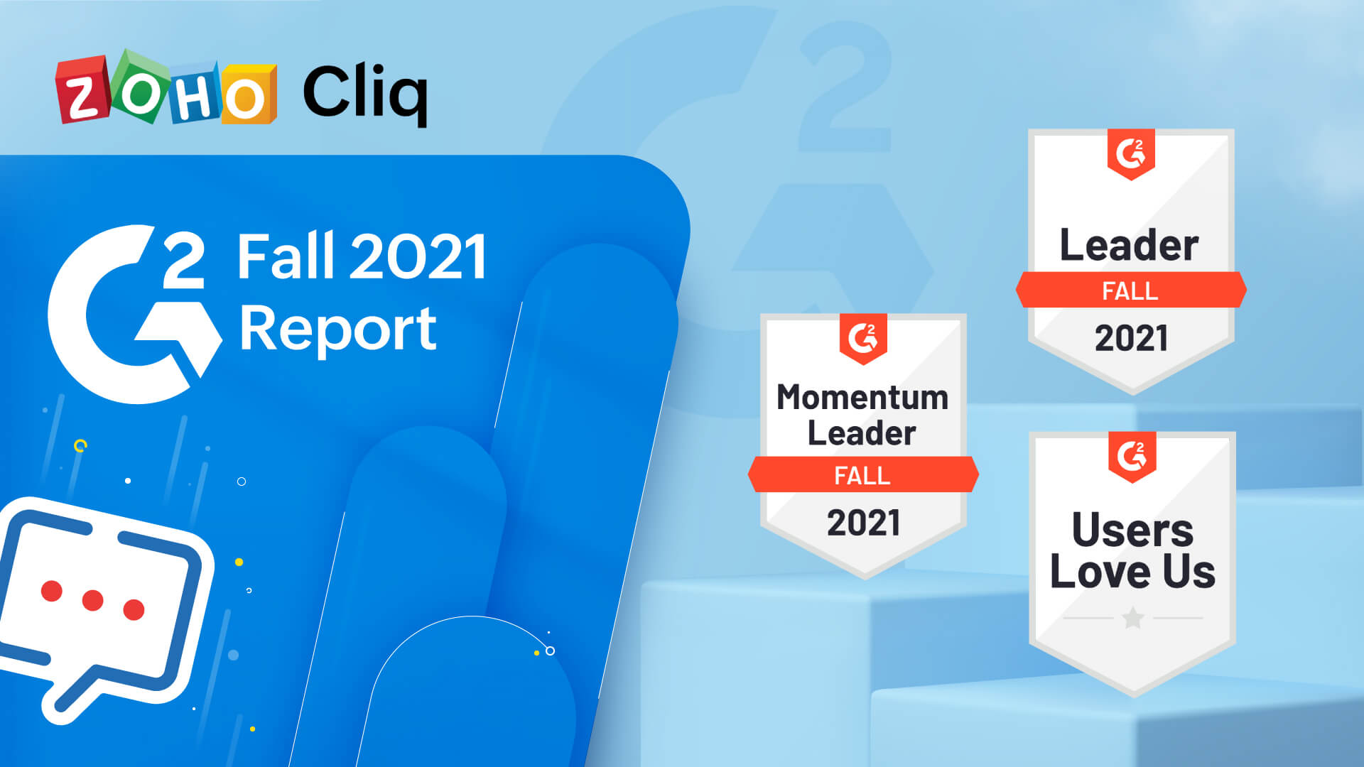 Zoho Cliq named a Leader in multiple G2 categories for fall 2021