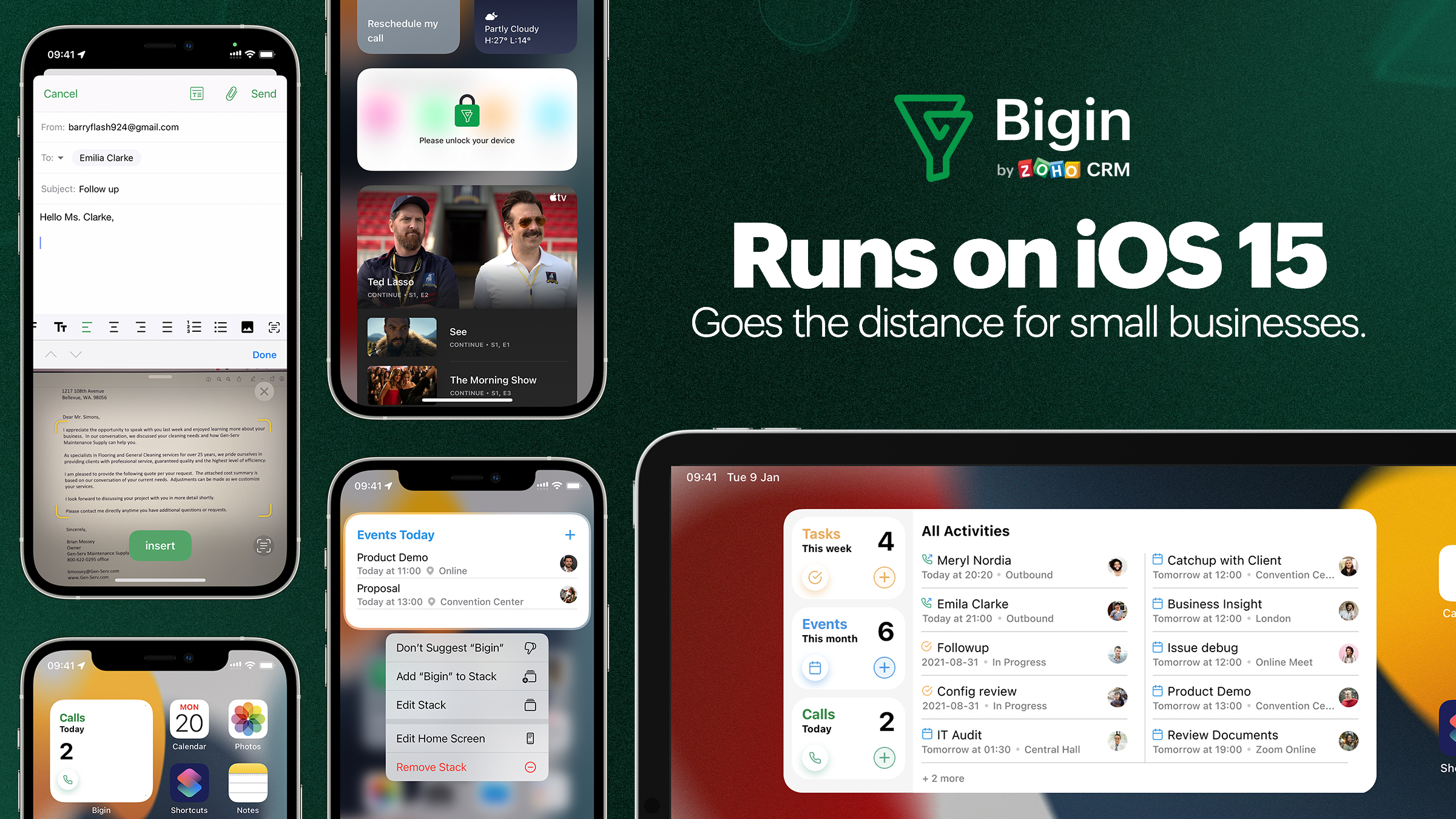 iOS 15 and iPadOS 15: Bigin is better, and more essential than ever to small businesses.