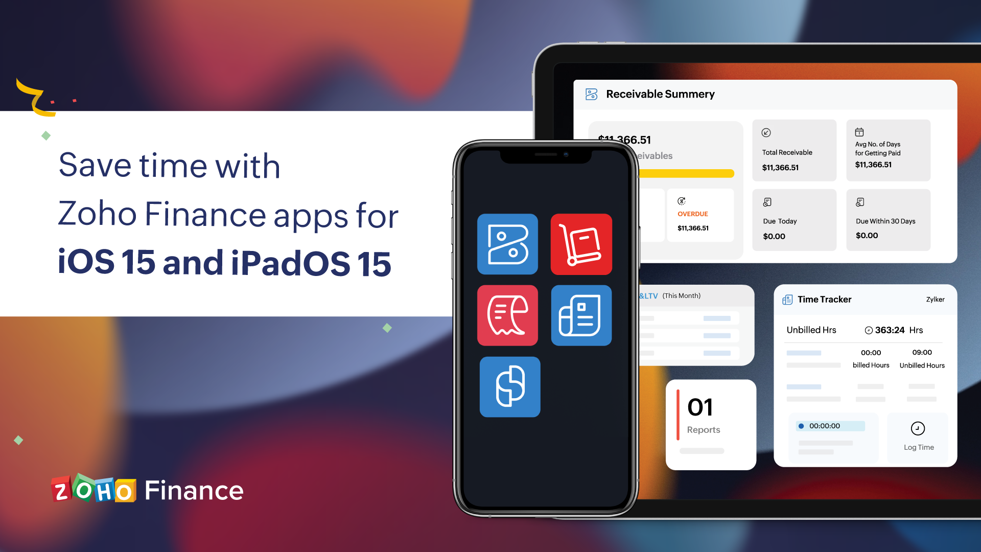 Live Text, extra-large widgets, and more:  Save time with Zoho Finance apps for iOS 15 and iPadOS 15