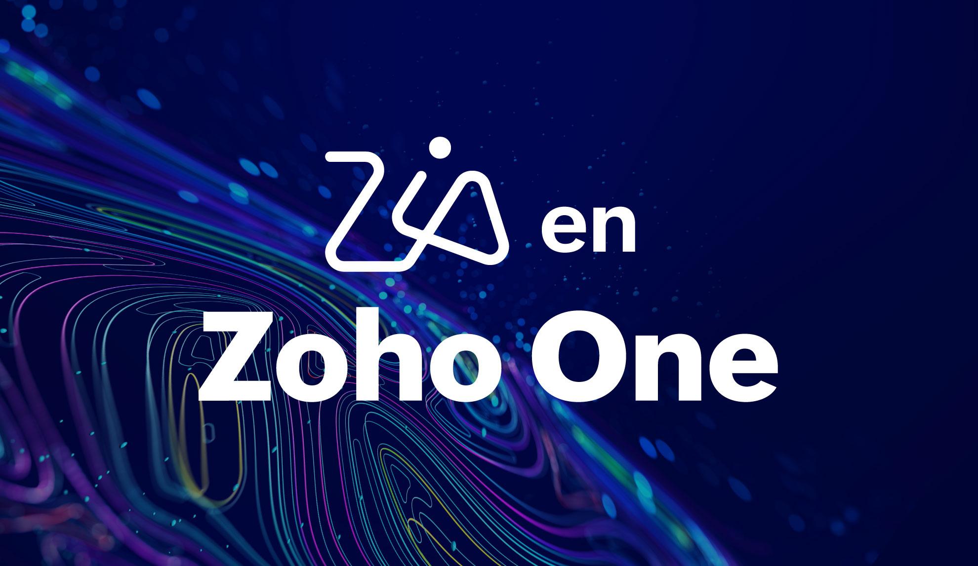 Descubra el poder de la inteligencia artificial en Zoho One
