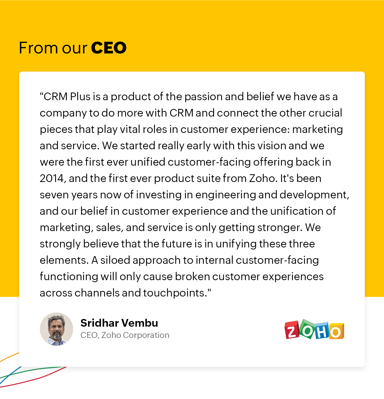 Words from our CEO